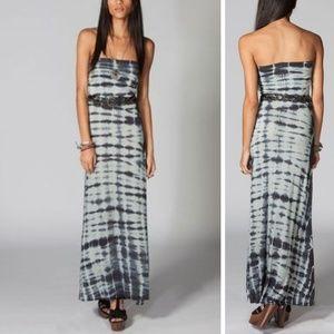 Billabong gray tye dye convertible dress maxi
